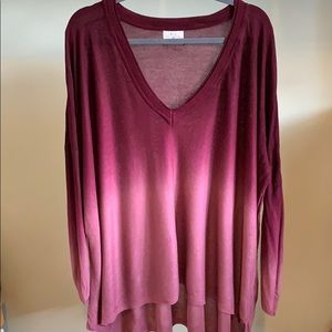 Anthro Berry Ombré oversized Sweater